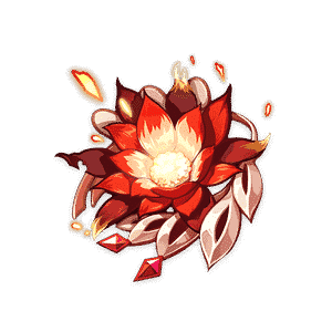 crimson with of flames flower