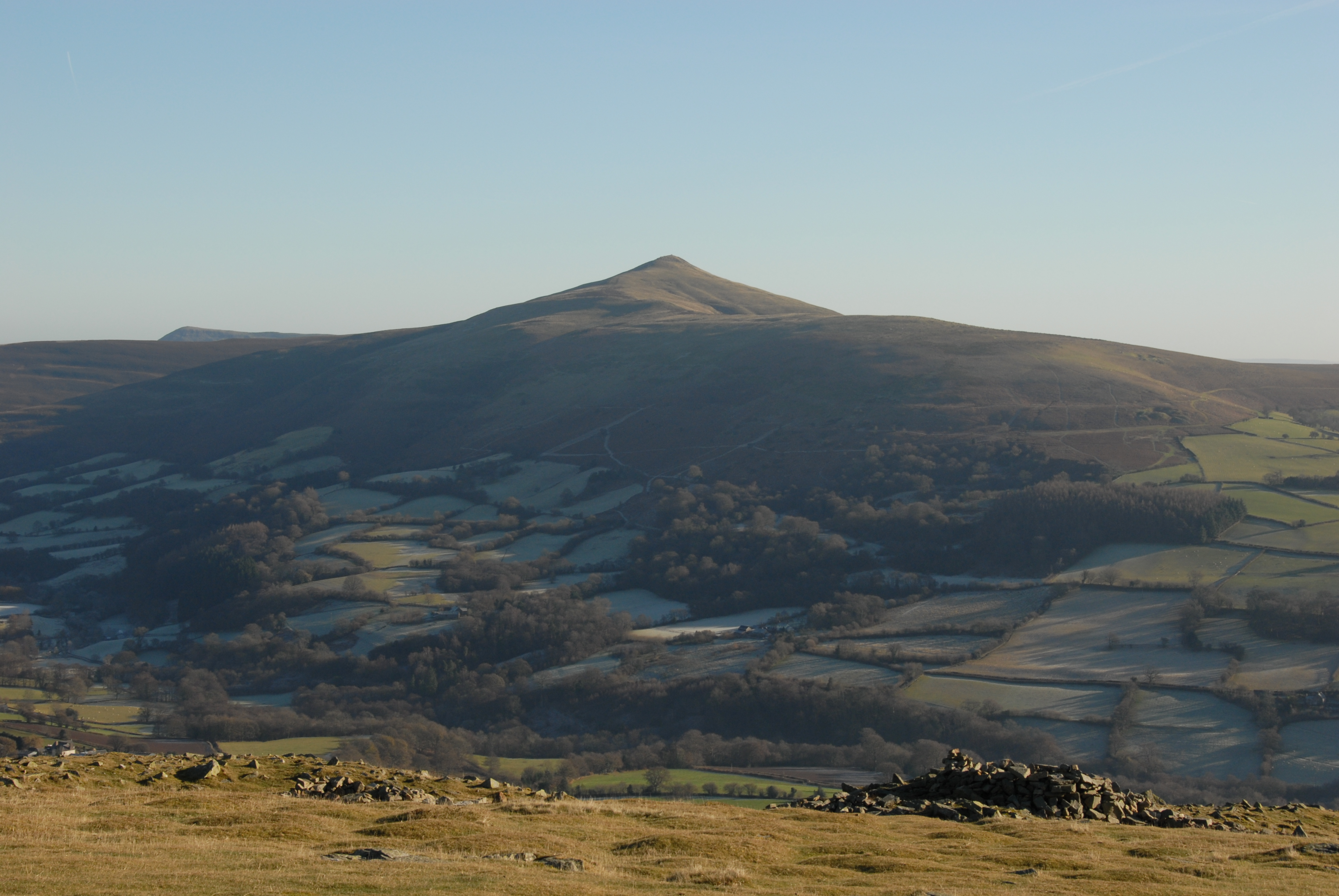 Sugar Loaf from hill fort at Crug Hywel