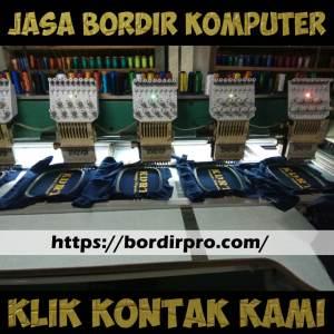 jasa bordir komputer, bordir komputer murah di Surabaya