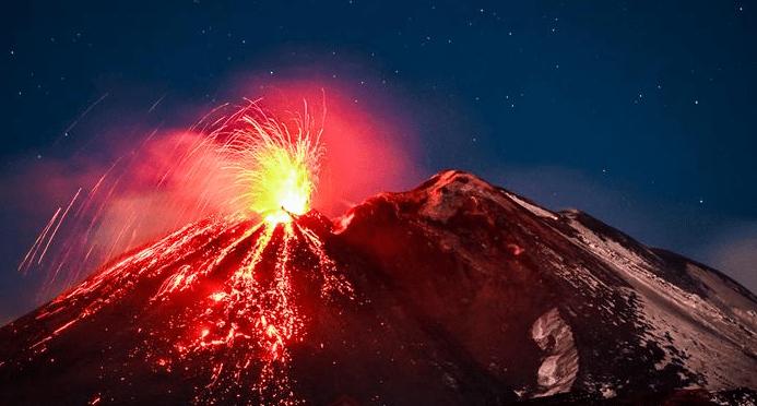 Фото вулкану Етна