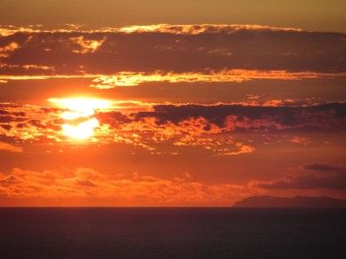 Sunset over Point Reyes