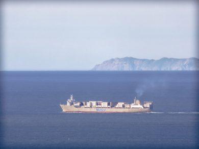 Ship Passing Point Reyes