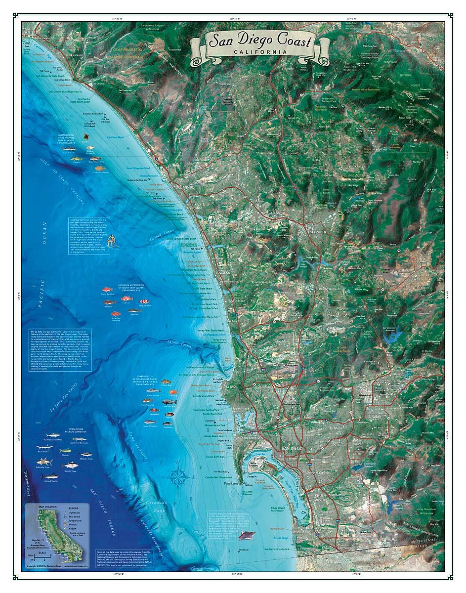 Sango Coast Map Coastal California Series