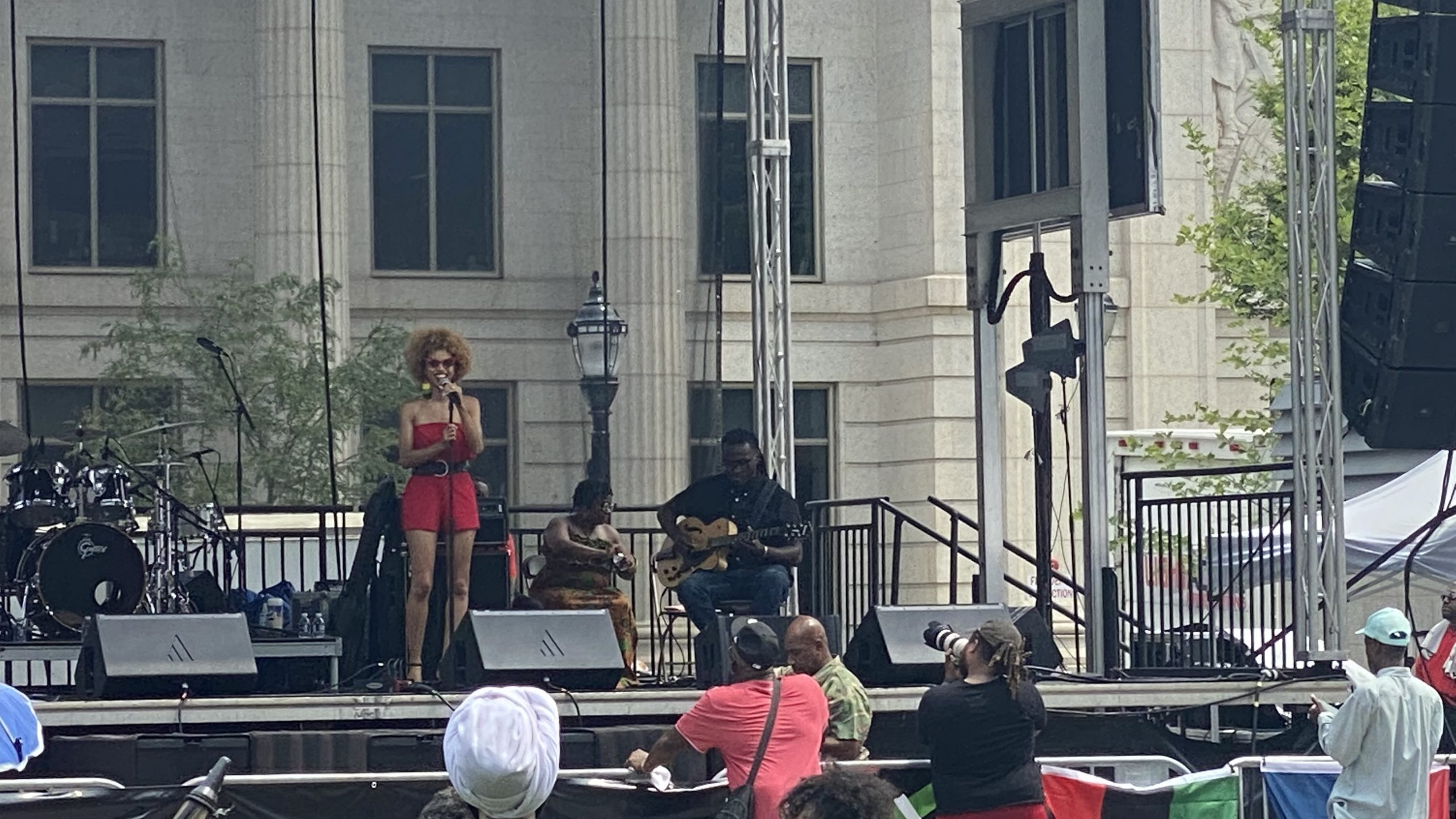 Nadjah Nicole at the 1st Annual Juneteenth Festival at Rodney Square