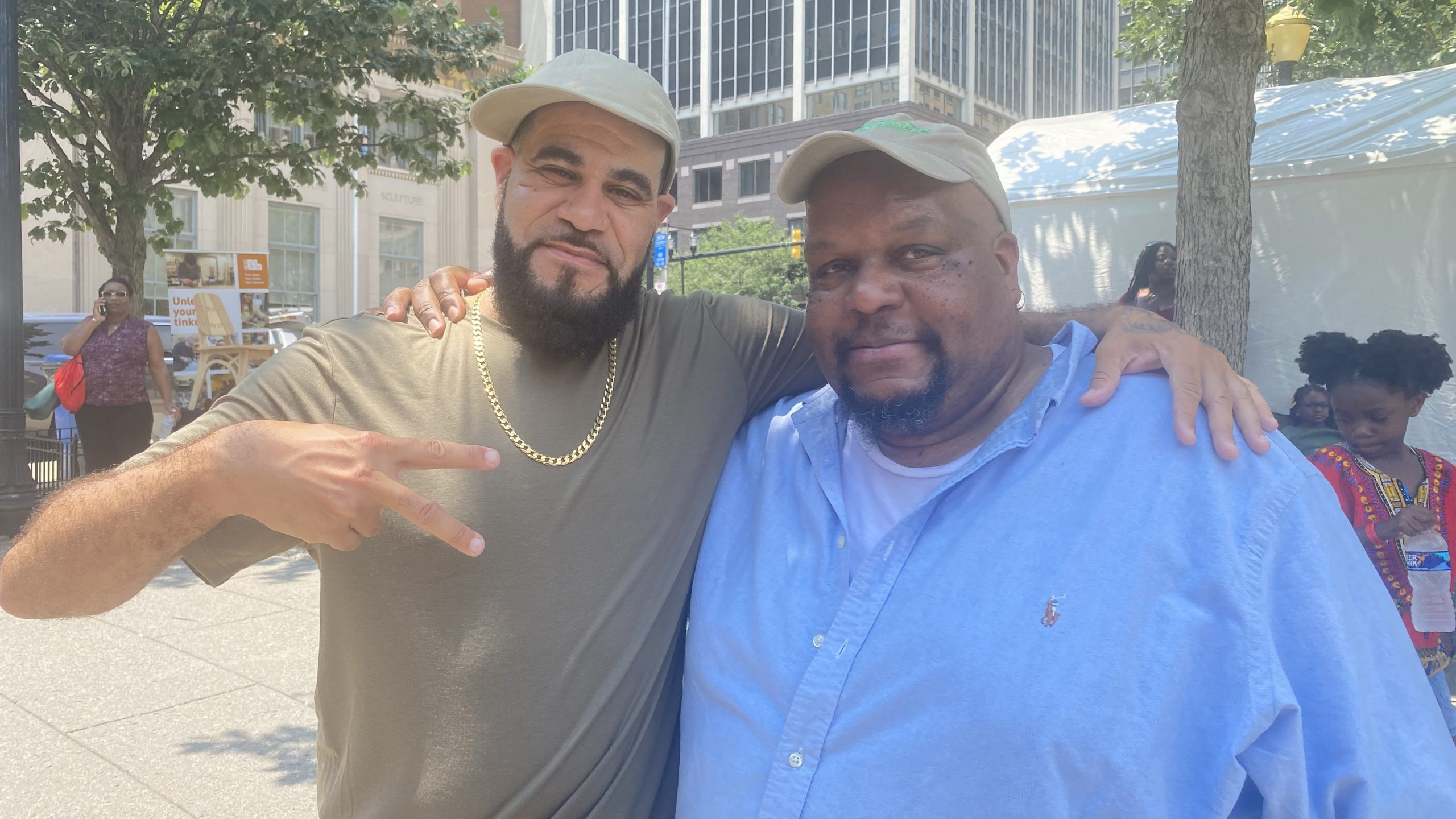 Grouchy Greg and Tuck at the 1st Annual Juneteenth Festival at Rodney Square