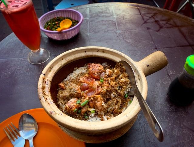 Chicken Rice Claypot with Chinese Sausage Kuala Lumpur Cheap Eats