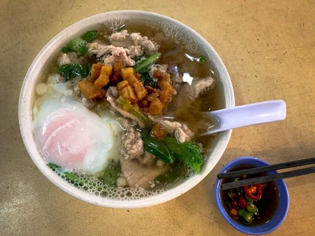 Pork Noodles Top Down Image from Peters Noodles Kuala Lumpur Cheap Eats Blog Post