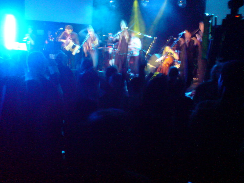 Bellowhead, right side of stage