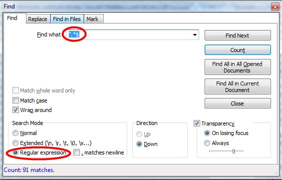 Notepad_Regex_Find