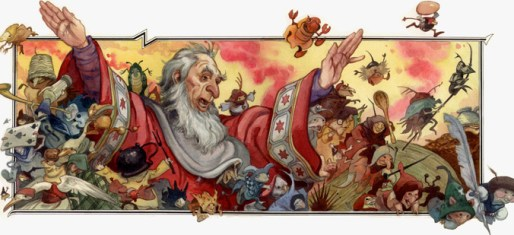 Wizard's Tale print available from davidwenzeldotcom