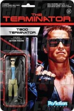 T800 Terminator action figure ReAction retro card