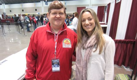 With Zoie Palmer at Planet Comicon 2014
