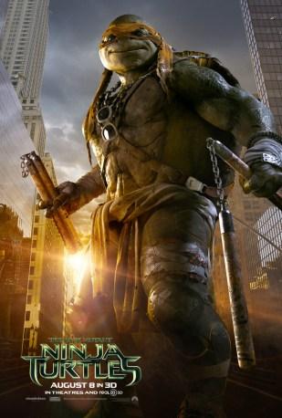 Michelangelo Teenage Mutant Ninja Turtle character poster