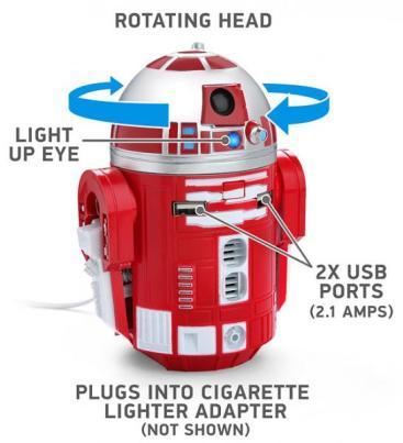 R2-D9 car charger ThinkGeek SDCC 2014