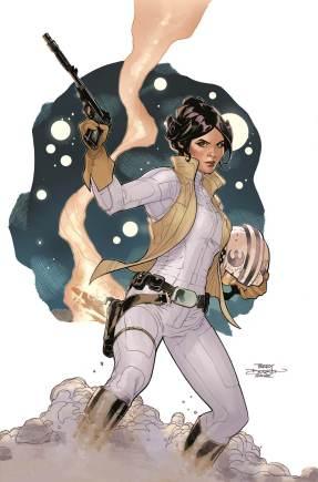 Star Wars Princess Leia Marvel Dodson cover art SDCC 2014