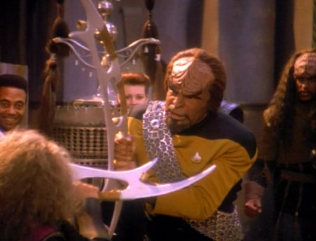 Worf bat'leth from Firstborn