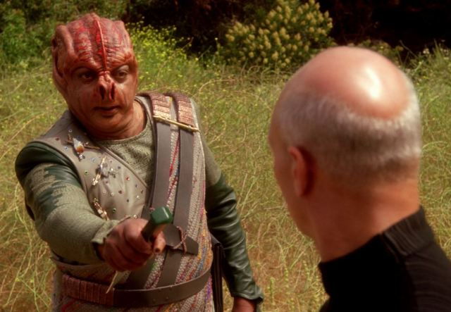 Dathon and Picard in Darmok