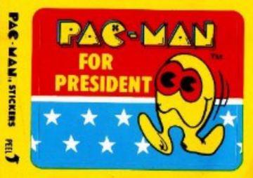 PacMan for President sticker