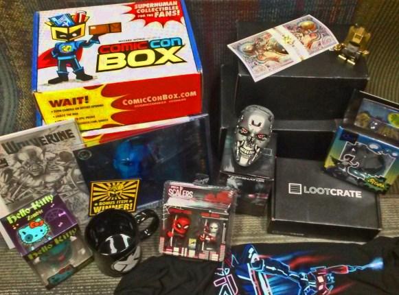 Loot Crate Comic Con Box display