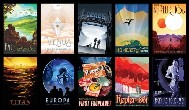 NASA travelogue poster set