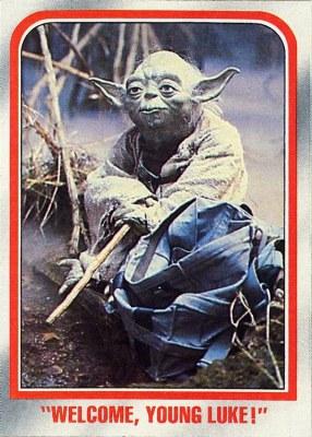 Yoda Topps card