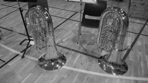 Tubaer under øvelse med Samling i bånN i Borge Musikkorps