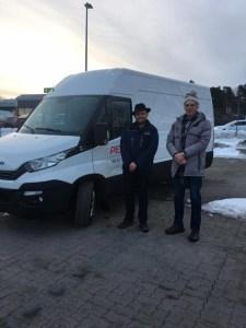 Steinar og Harald var årets Borgebilbud opp til Trondheim ;-)