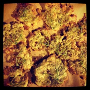 (After) Elderberry flowers fritters