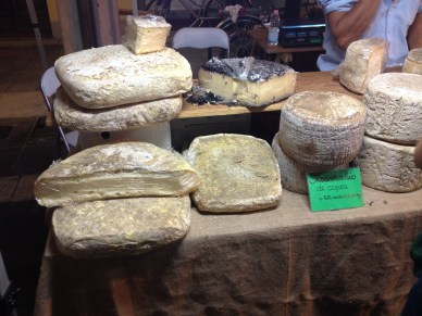 These are formaggi di fossa, cheeses that have been buried and aged under various flavorful conditions