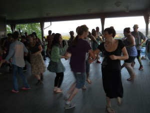 One of the highlights of this dance was folks bringing their own moves, from breakdance to Bengali, to the promenades.