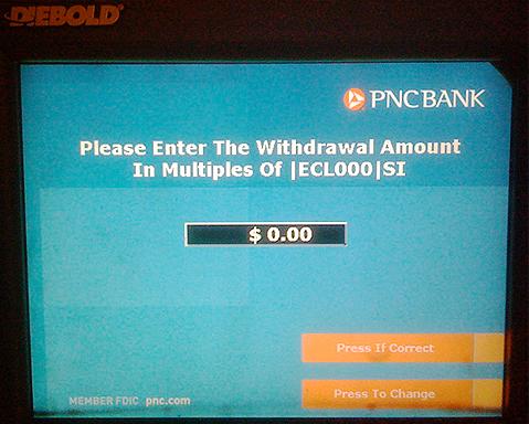 Buggy PNC ATM (via Matt Blaze on flickr)