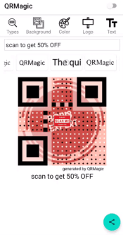 sign for qr code