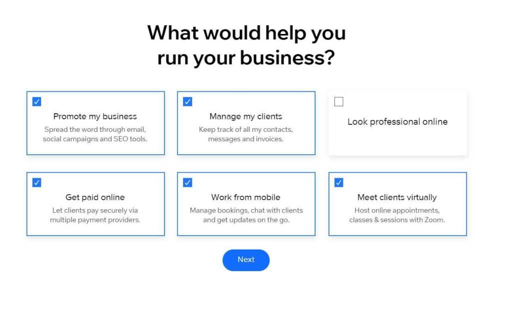 modules by wix website creator