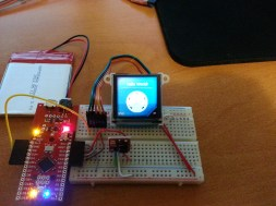 Test of the stepup and OLED integration.