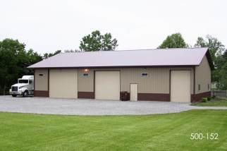 post frame storage garage