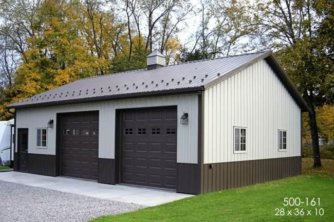 post frame residential storage building