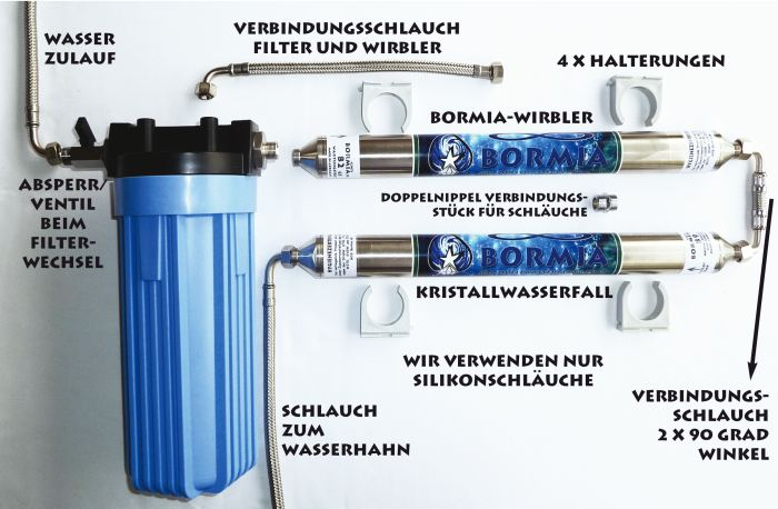 Installation Bormia-Quelle mit Filter