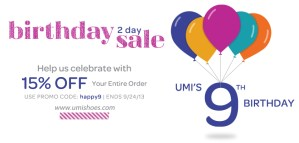 Is UMI Shoes Birthday Discount Code !