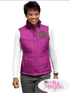 Stylish Monogram Puffy Vest From The Pink Monogram – Review and Giveaway