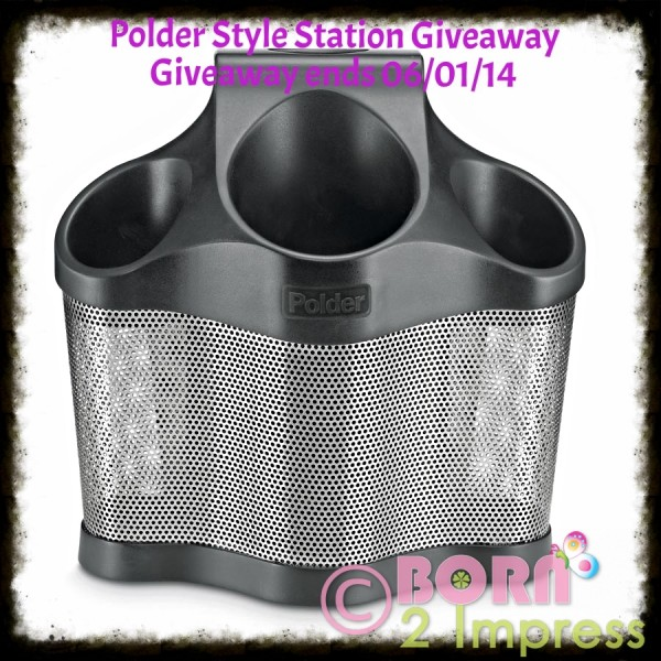 Polder Style Station Keeps your Hair Tools Organized- Review and Giveaway