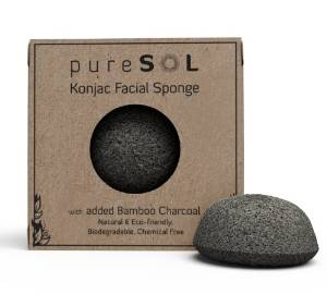 Konjac Facial Sponge with Bamboo Charcoal from pureSOL -Review