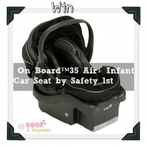Traveling this Holidays? Keep your Little Bundle Safe with the On Board™35 Air+ Infant Car Seat from Safety 1st – Giveaway