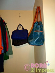 My Own Purse Organizer- Inexpensive Way To Store Your Purses!