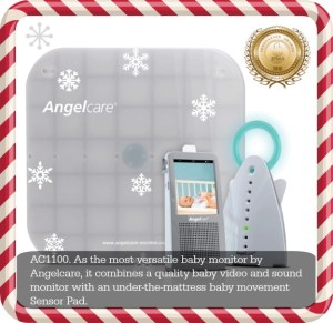 Parents get Peace of Mind with The Angelcare AC1100  Baby Video and Sound Monitor with an Under-the-Mattress Baby Movement Sensor Pad