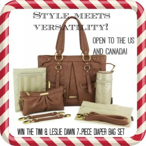 Born 2 Impress Holiday Gift Guide-Meet the timi & leslie Dawn 7-Piece Diaper Bag Set Trendy, Stylish and Versatile!