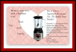 New Year New Me! Win One of TwoTribest Dynablend Horsepower Plus, DB-850GA Home Power Blender