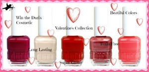 Love is in the Air-Win the Duri Cosmetic Toxin-Free Valentine's Collection Nail Polishes