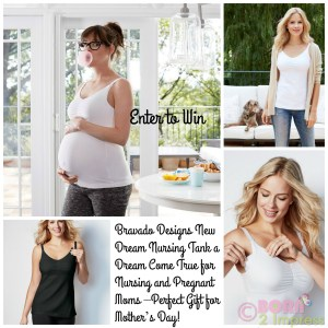 Bravado Designs New Dream Nursing Tank a Dream Come True for Nursing and Pregnant Moms –Perfect Gift for Mother's Day!