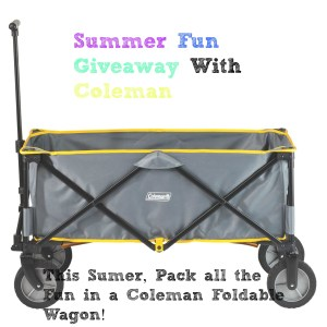 Pack all the Summer Fun in a Coleman Foldable Wagon!