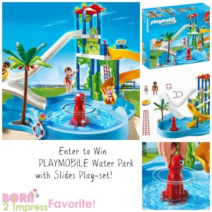 Summer Fun with the PLAYMOBILE Water Park with Slides Play-set Giveaway